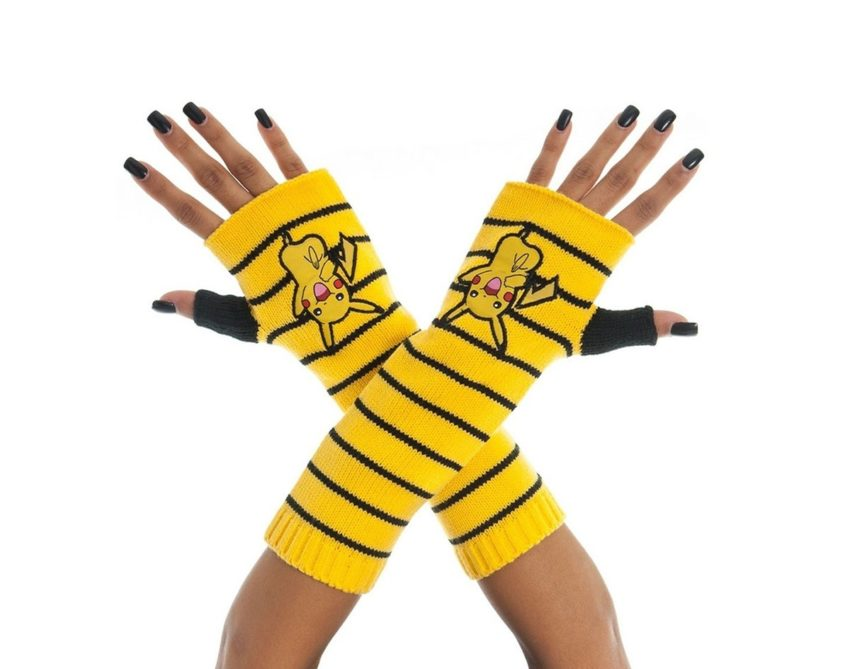 Pokemon Gloves (Fingerless) Pikachu-0