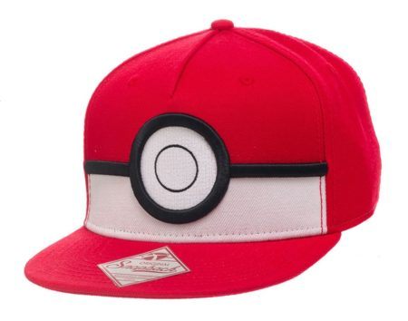 Pokemon Snap Back Baseball Cap 3D Poke Ball-0