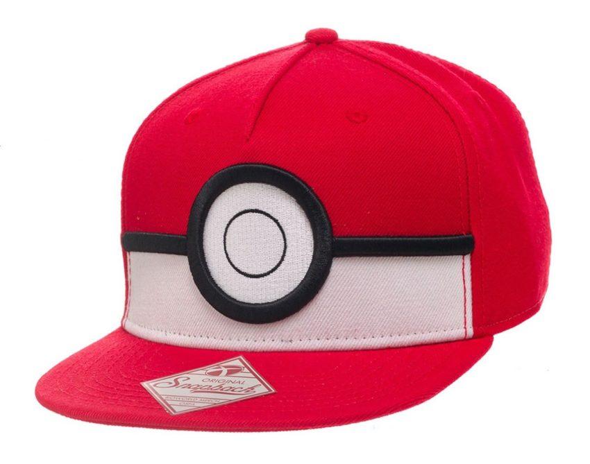 Pokemon Snap Back Baseball Cap 3D Poke Ball-0