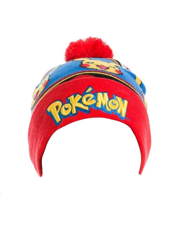 Pokemon Beanie Logo & Pikachu