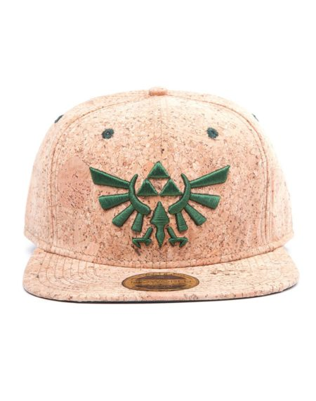 The Legend of Zelda Triforce Logo Cork Snapback Cap