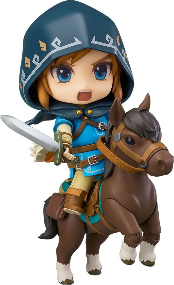 The Legend of Zelda Breath of the Wild Nendoroid Action Figure Link Deluxe Edition 10 cm