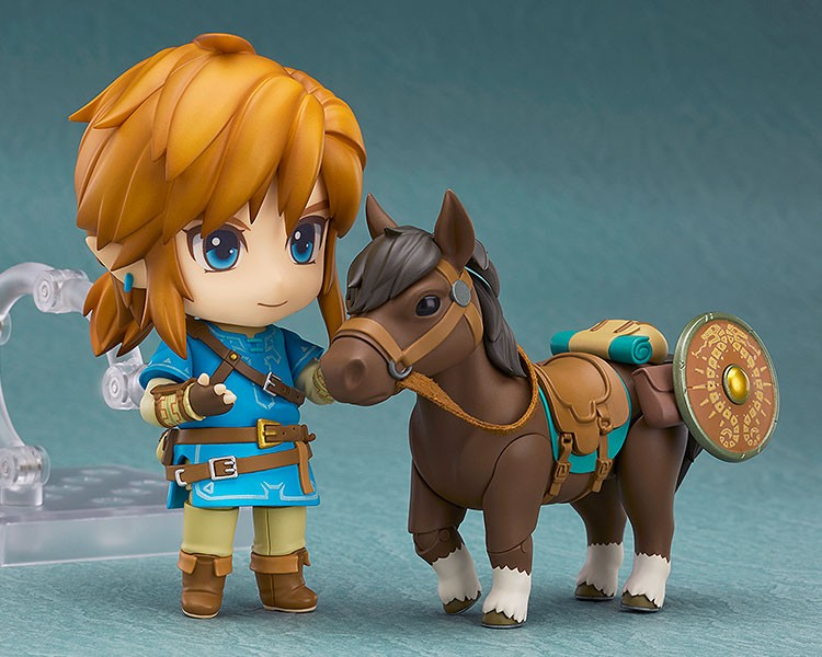 The Legend of Zelda Breath of the Wild Nendoroid Action Figure Link Deluxe Edition 10 cm