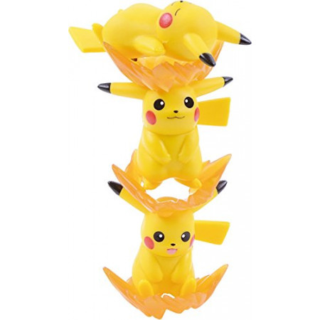 Ensky Pikachu Stackable NOS-26 Nosechara Mini Figures-0