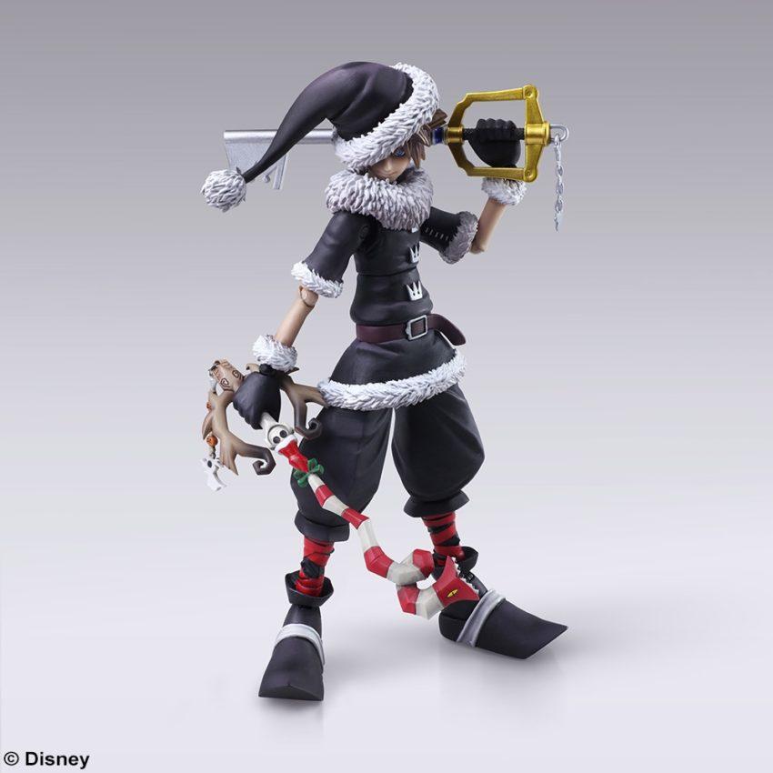 BRING ARTS KINGDOM HEARTS II Sora Christmas Town Ver. Action Figure-10354