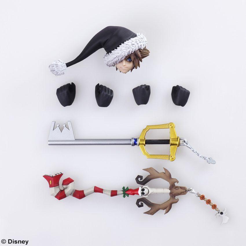 BRING ARTS KINGDOM HEARTS II Sora Christmas Town Ver. Action Figure-10358