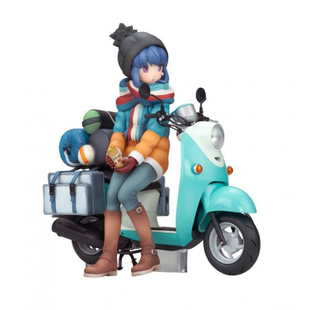 Laid-Back Camp PVC Statue 1/10 Rin Shima with Scooter-0