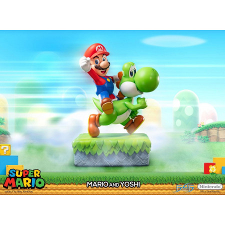 Super Mario Statue Mario & Yoshi-0