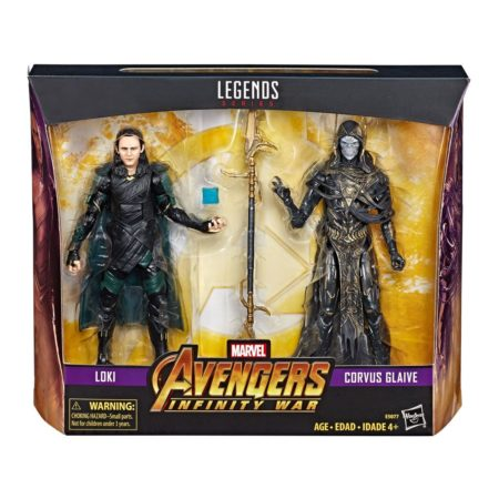 Marvel Legends Series Action Figure 2-Pack 2019 Corvus Glaive & Loki