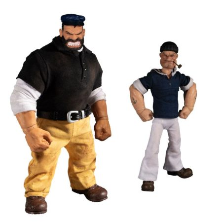 Popeye Action Figures 1/12 Popeye & Bluto: Stormy Seas Ahead Deluxe Box Set