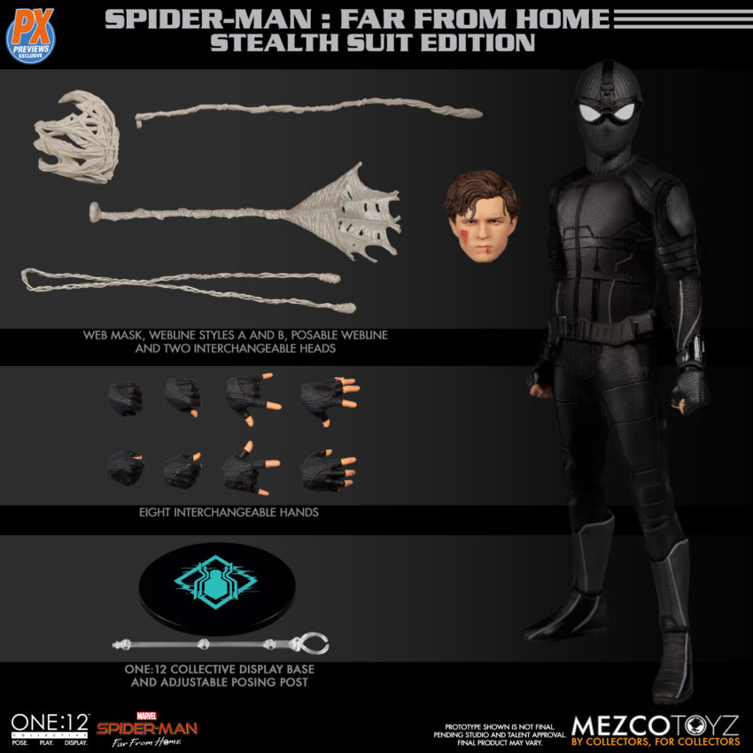 ONE-12 COLLECTIVE PX SPIDER-MAN STEALTH SUIT