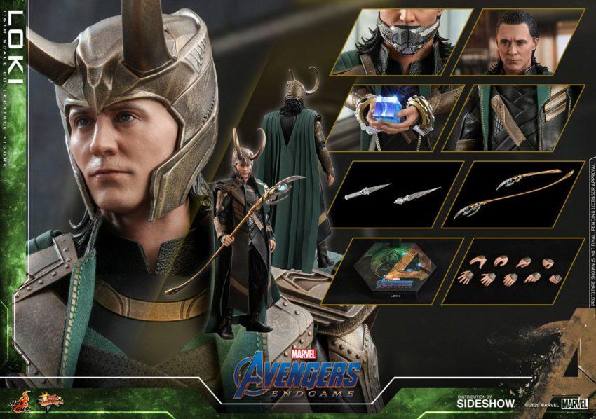 Avengers: Endgame Movie Masterpiece Series Hot Toys Action Figure 1/6 Loki