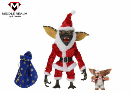 NECA Gremlins Santa Suit Stripe and Gizmo