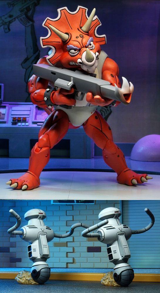 Teenage Mutant Ninja Turtles Action Figure 3-Pack Triceraton Infantryman & Roadkill Rodney