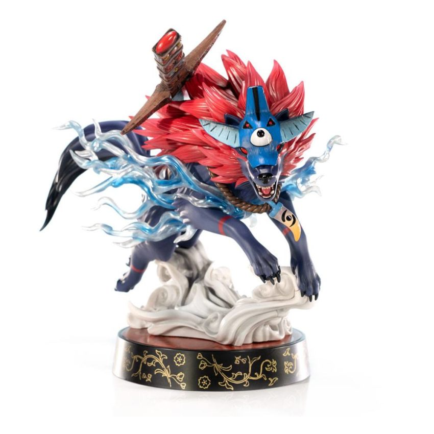 First4Figures Okami PVC Statue Oki Wolf Form