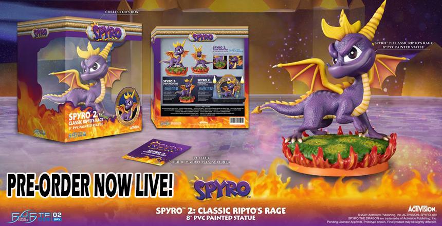 Spyro 2 First4Figures PVC Statue
