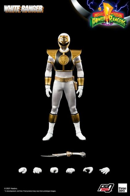 Mighty Morphin Power Rangers FigZero Action Figure 1/6 White Ranger