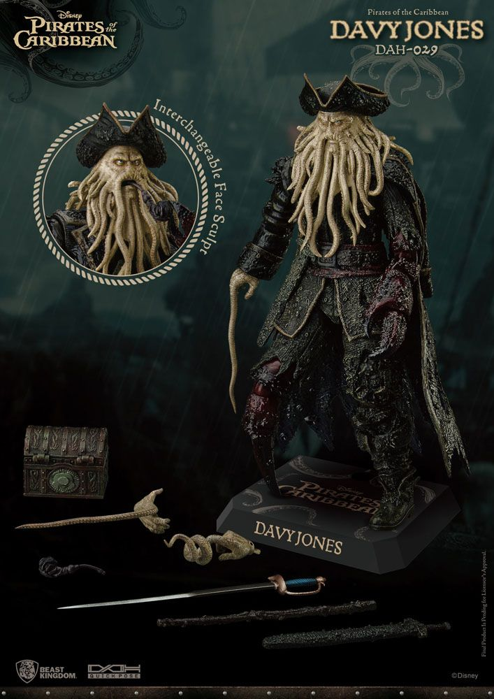 Pirates of the Caribbean Dynamic 8ction Heroes Action Figure 1/9 Davy Jones